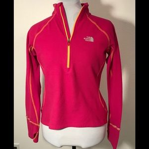 North Face Womens fleece top, size Med